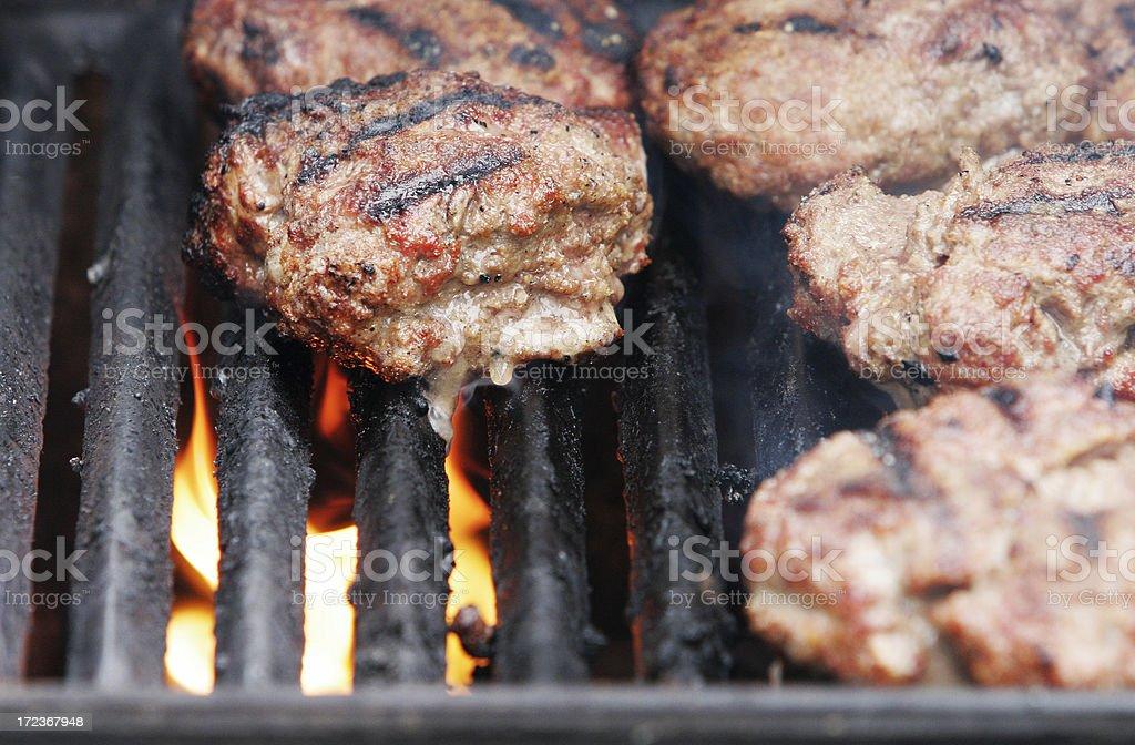 BBQ Hamburger stock photo