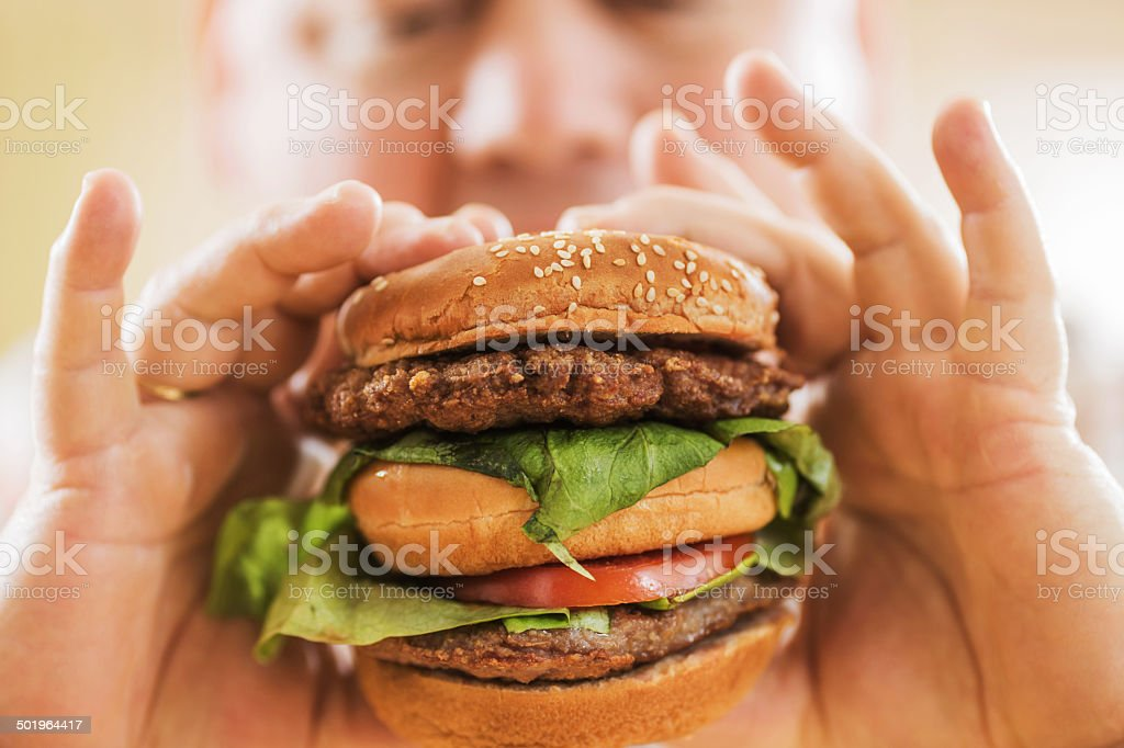 Hamburger. stock photo