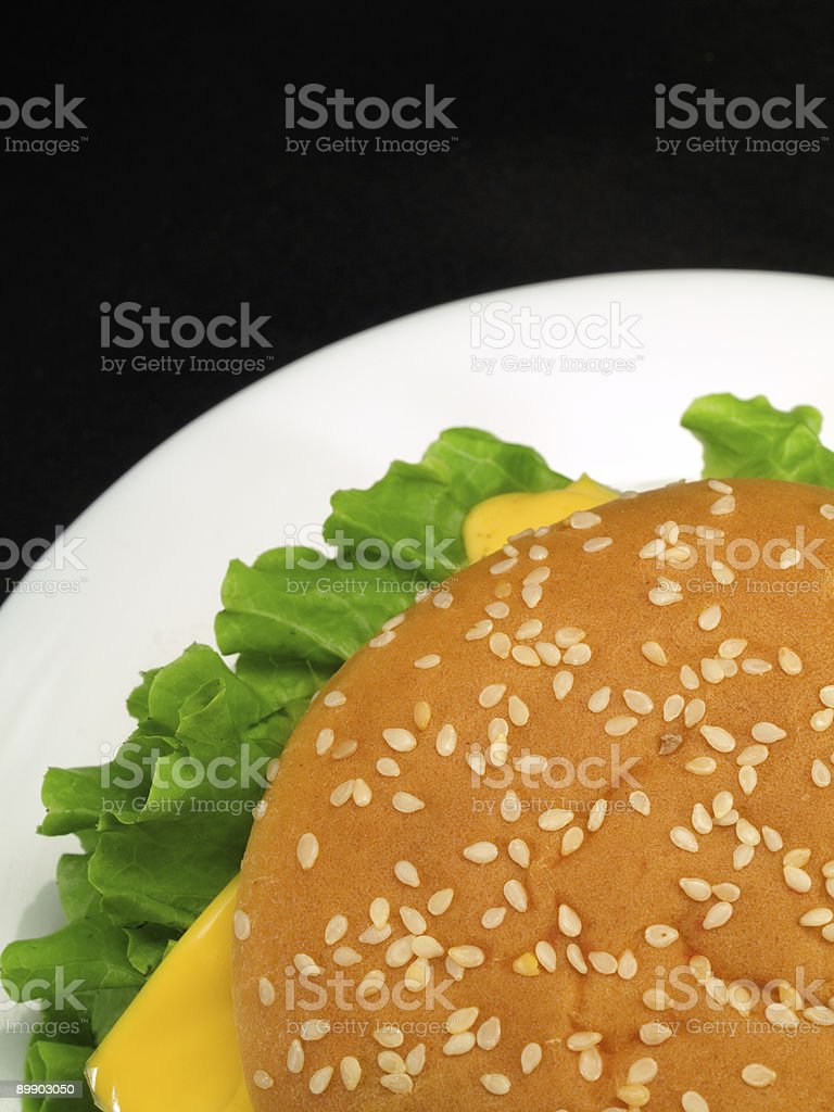 Hamburger di manzo foto stock royalty-free
