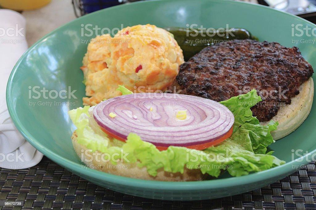 Hamburger Platter royalty-free stock photo