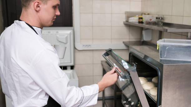 Hamburger Brötchen Kochen Ofen backen – Foto