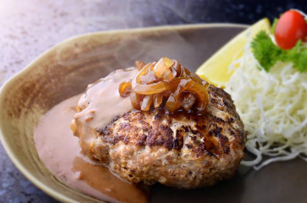 ハンバーグ ステーキ和風または hambagu。 - ハンバーグ料理 ストックフォトと画像