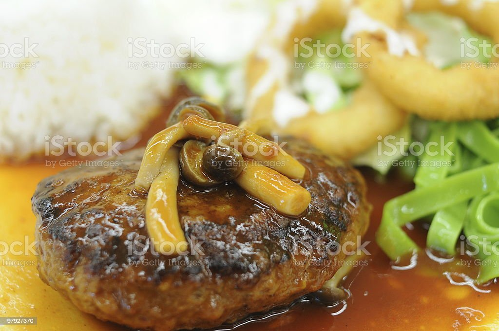 Hamburger steak royalty-free stock photo