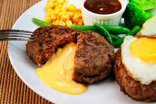Hamburger mit Käse steak – Foto