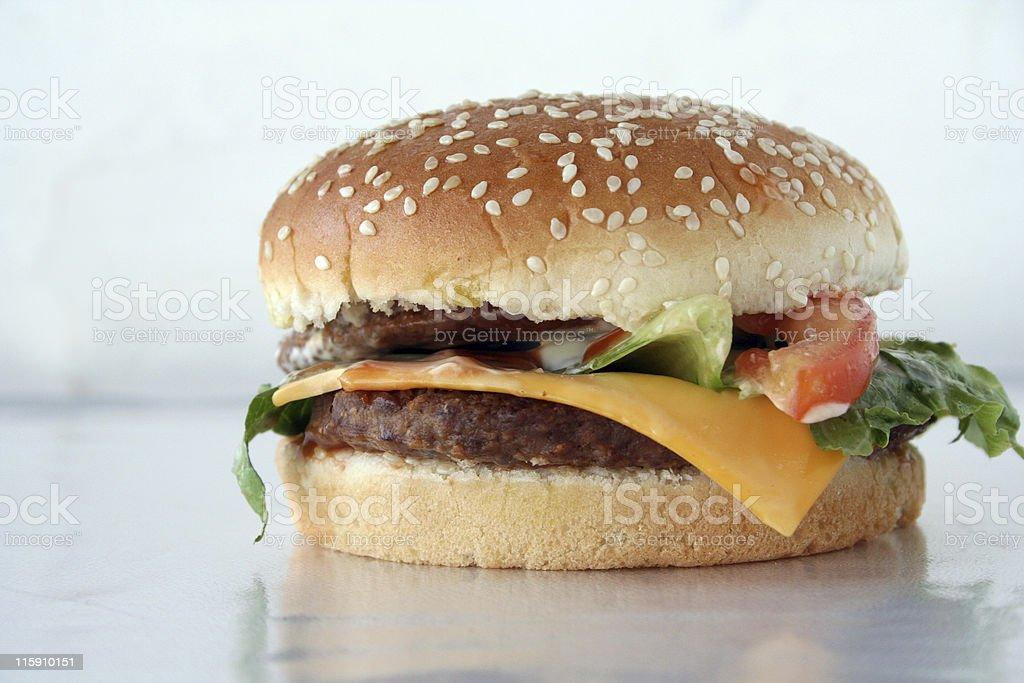 Hamburger with cheese royalty-free stock photo