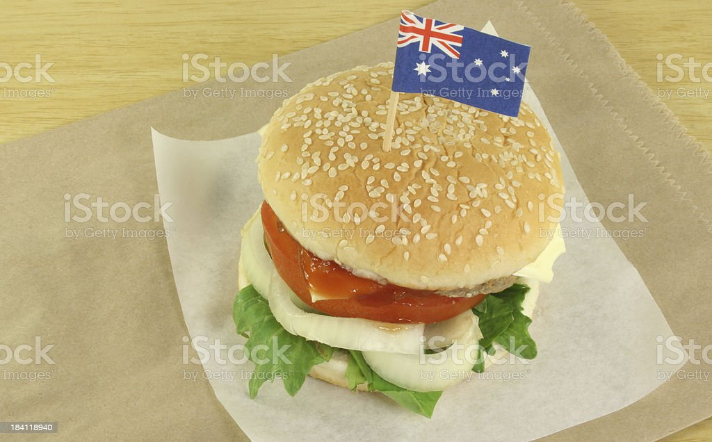 hamburger with flag - Royalty-free Australia Day Stock Photo