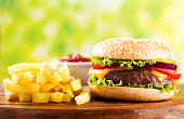 istock hamburger with french fries 865789188