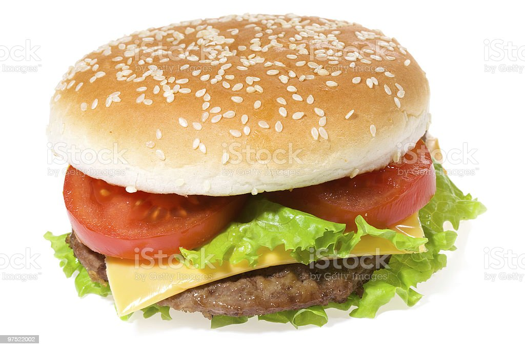 hamburger with vegetables royalty-free stock photo