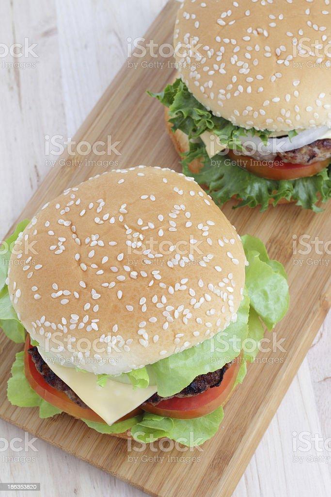 Hamburgers on the table. royalty-free stock photo