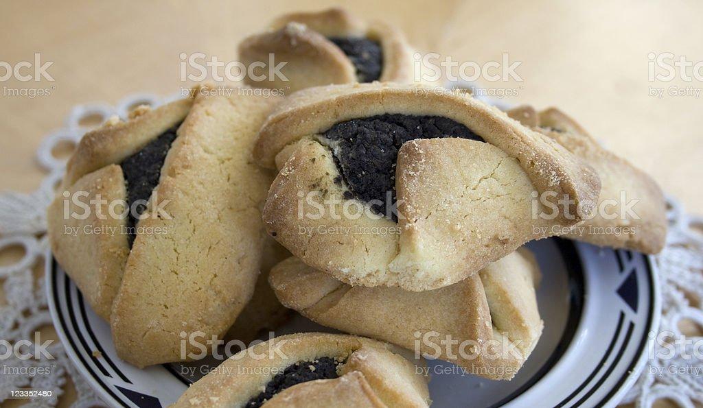 Hamentachen pastry royalty-free stock photo