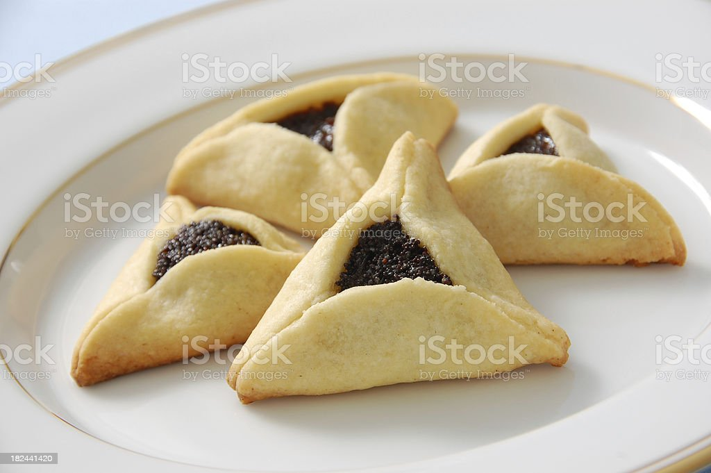 Hamentaschen for Purim royalty-free stock photo