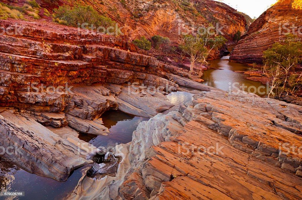 Hamersley Gorge, Karijini National Park stock photo