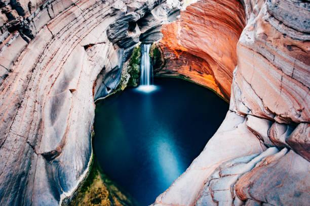 Hamersley Gorge, Spa Pool, Karijini National Park, Western Australia stock photo