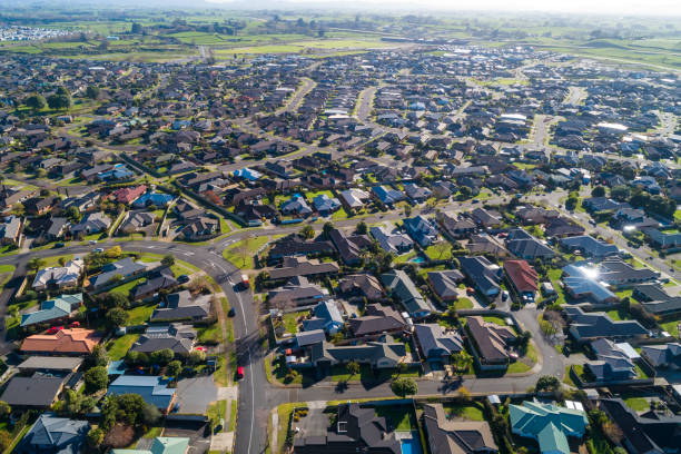 Hamilton Aerial View stock photo