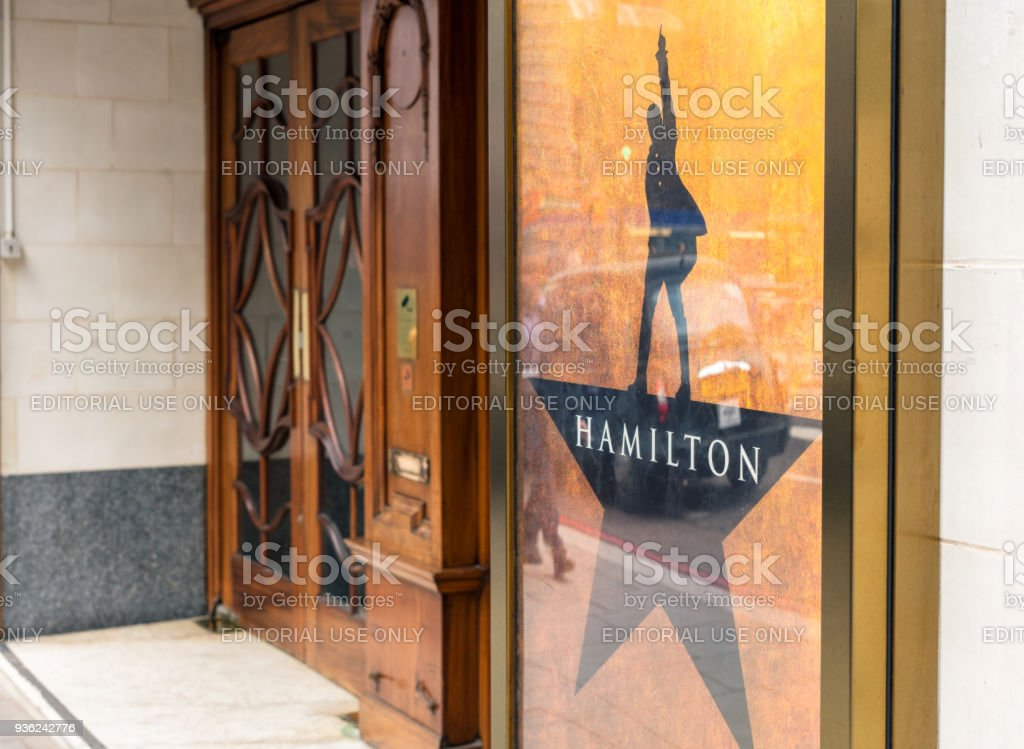 Hamilton: An American Musical at the Victoria Palace in London stock photo