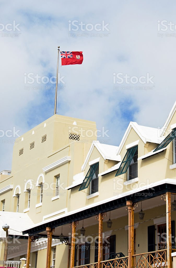 Hamilton, Bermuda ...  Front Street Building stock photo