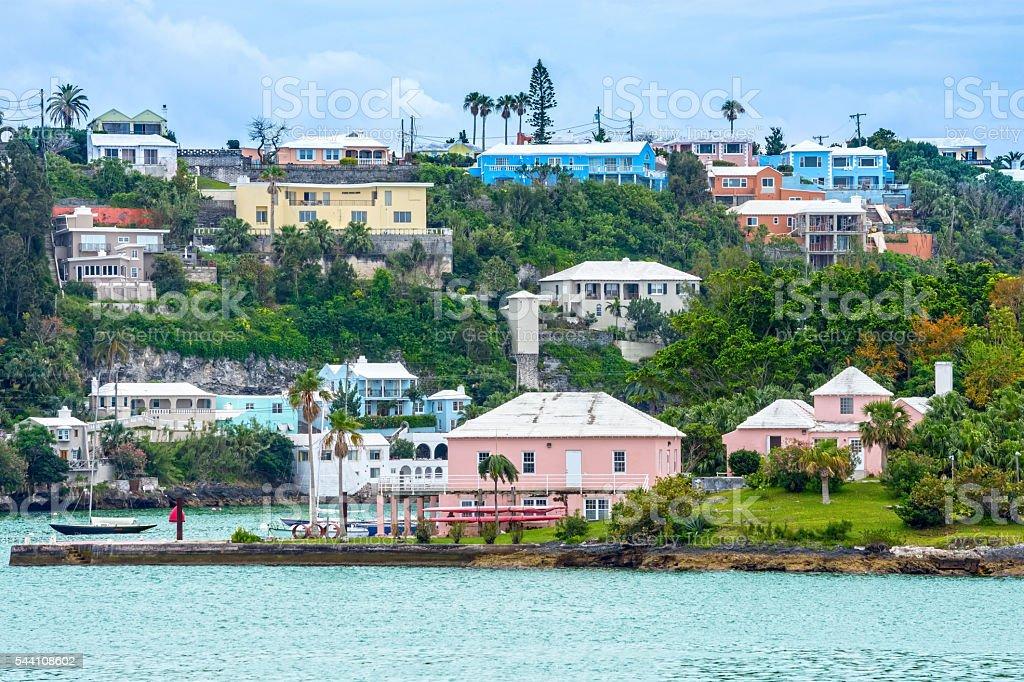 Hamilton Bermuda View stock photo
