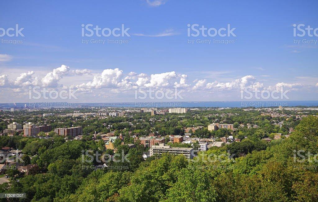 Hamilton Cityscape stock photo