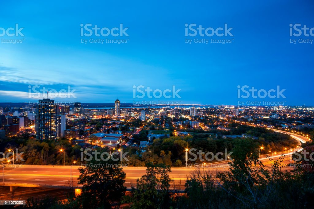 Hamilton in Dusk stock photo