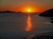 Hamilton island scene showing water and sunset