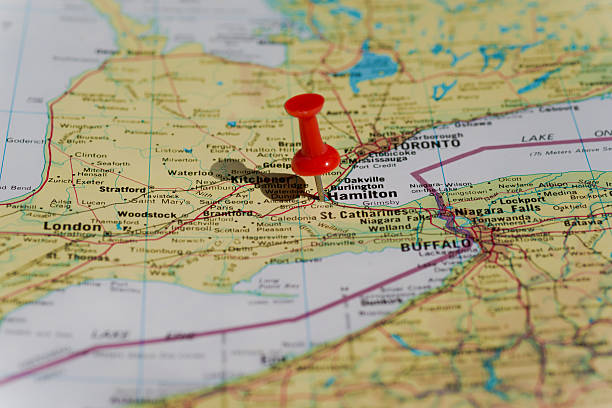 Hamilton Ontario Canada Map.Royalty Free Hamilton Ontario Canada On A Map Pictures Images And