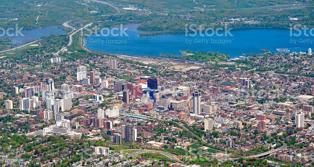 Hamilton panorama stock photo