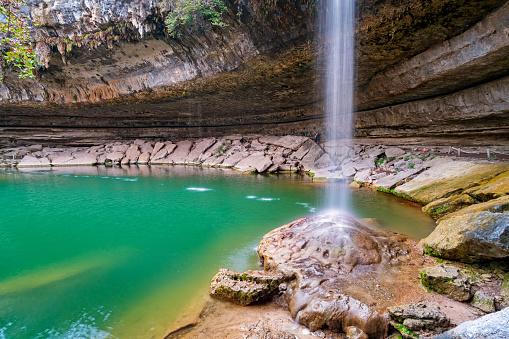 Hamilton Pool And Waterfall Near Austin Texas Usa Stock ...