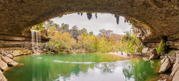 hamilton pool preserve near austin texas usa - nature reserve stock photos and pictures