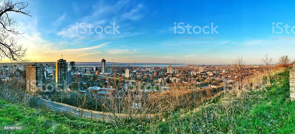 Hamilton skyline stock photo