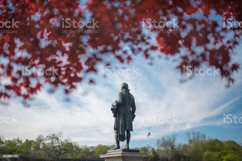 Hamilton Statue Great Falls stock photo