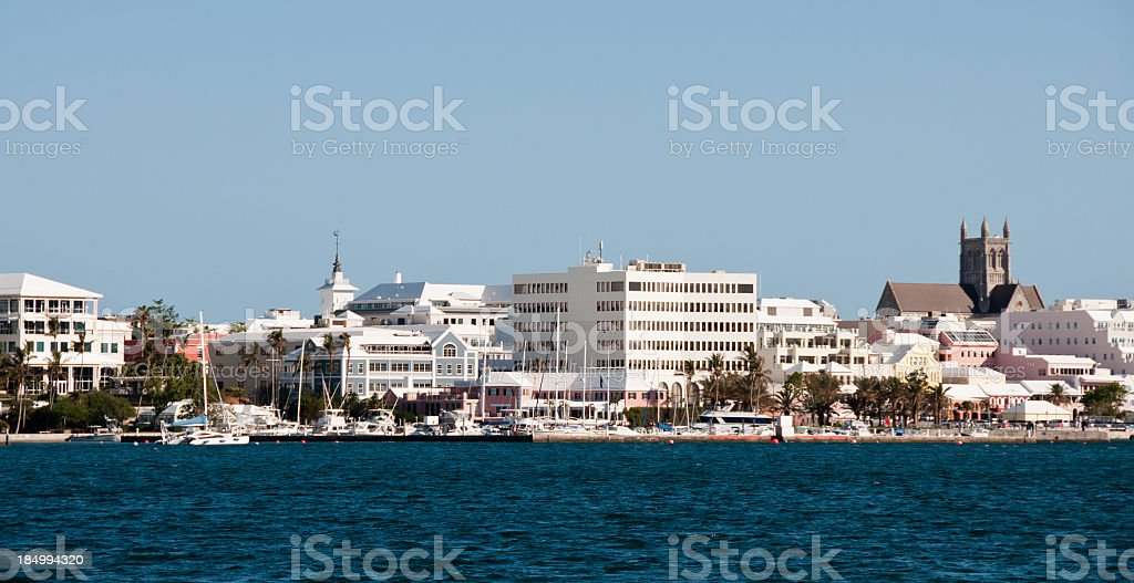 Hamilton Waterfront and Marina stock photo