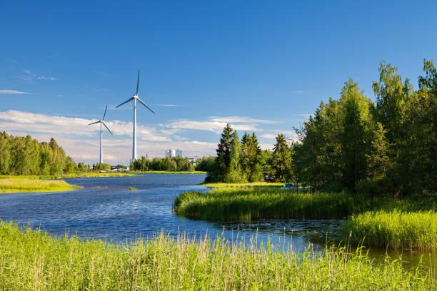 Hamina, Finlandia - paisaje típico local, verano - foto de stock