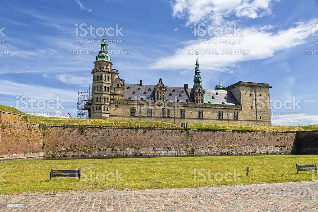 Hamlet's castle in Elsinore, Kronborg, Denmark stock photo