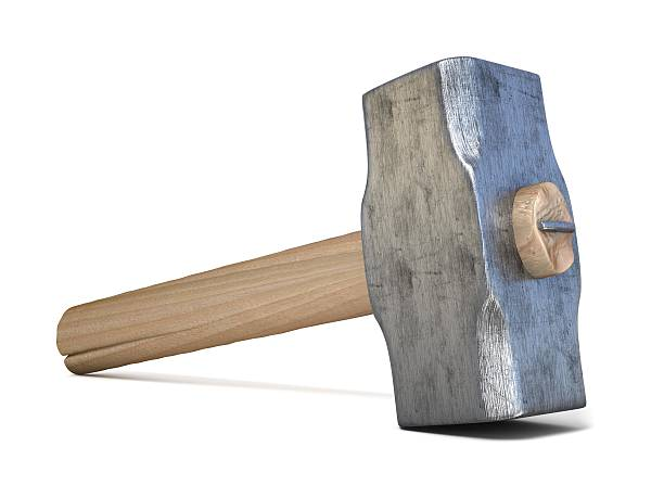 Hammer. 3D render Hammer. 3D render illustration isolated on white background hammer stock pictures, royalty-free photos & images