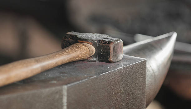 Hammer and Anvil stock photo