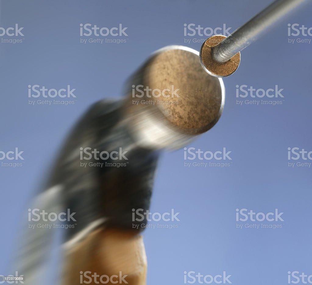 Hammer and Nail stock photo