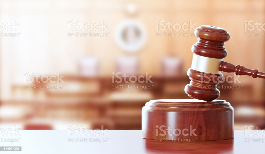 Hammer, gavel for justice stock photo