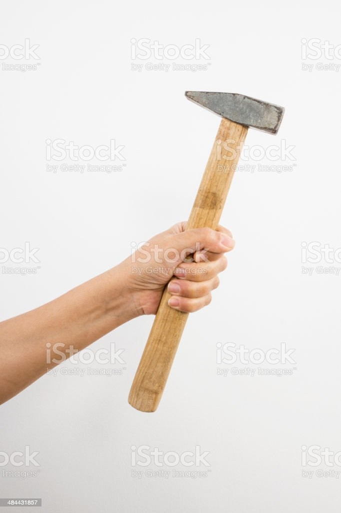 Hammer in Hand stock photo
