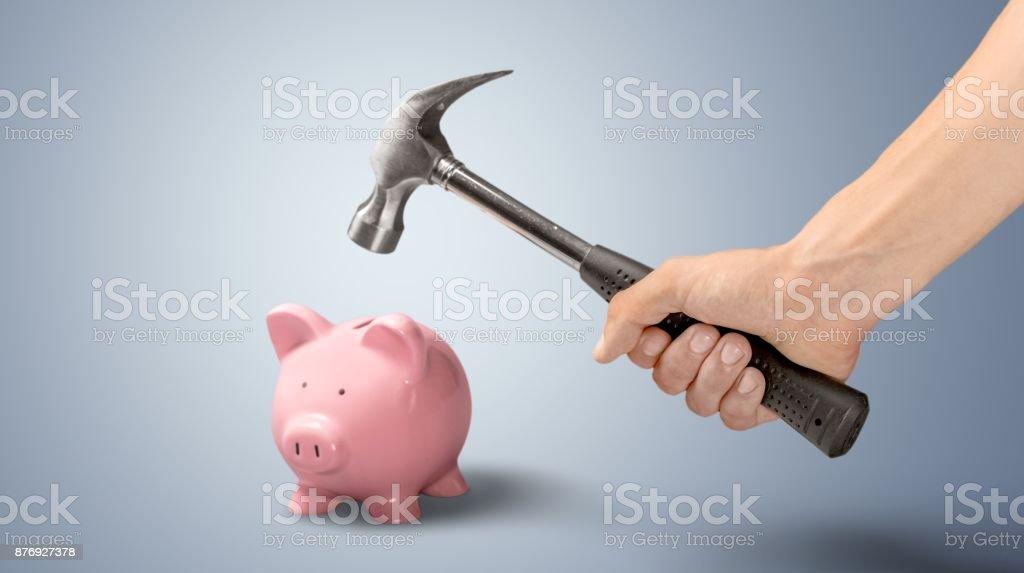 Hammer. stock photo