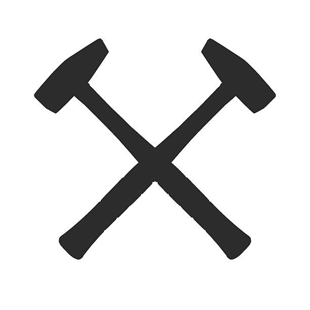 Royalty Free Silhouette Of A Crossed Hammer Symbol Pictures Images
