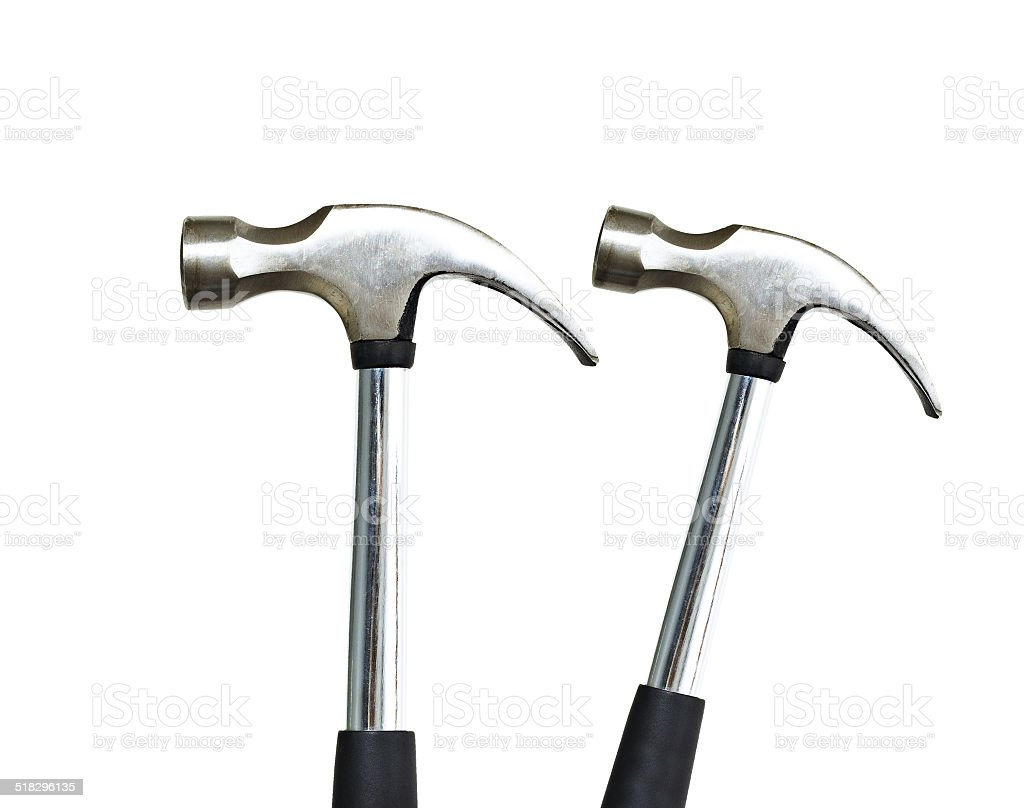Hammers isolated stock photo