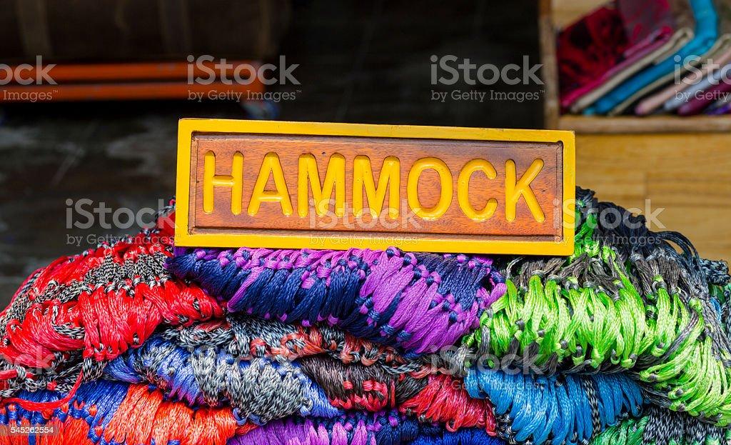 Hammock for sale stock photo