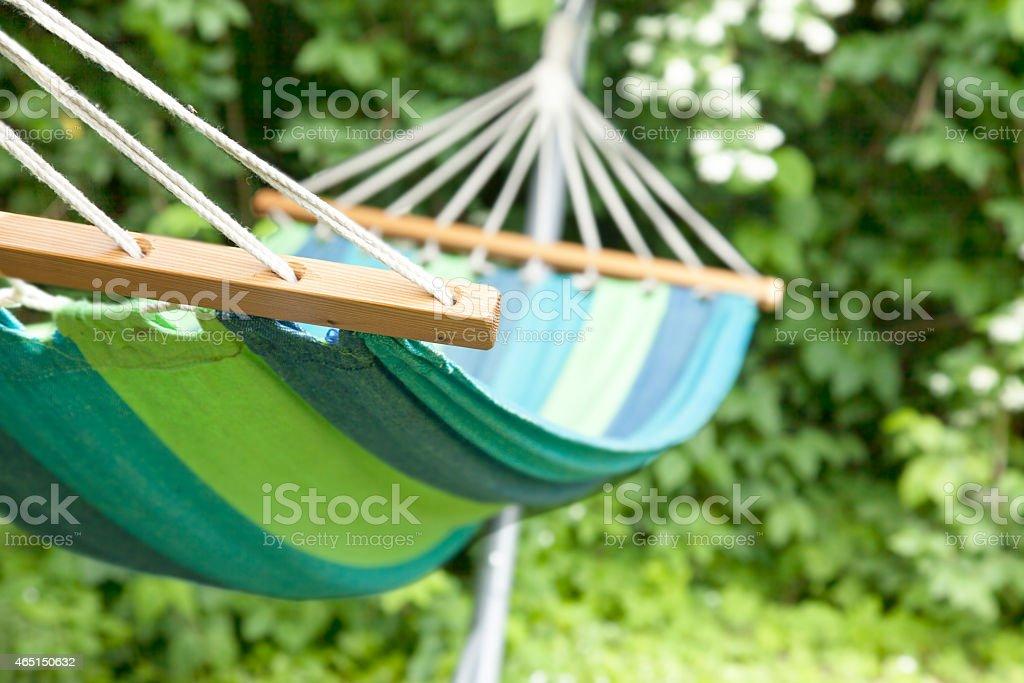 Hammock in garden. stock photo