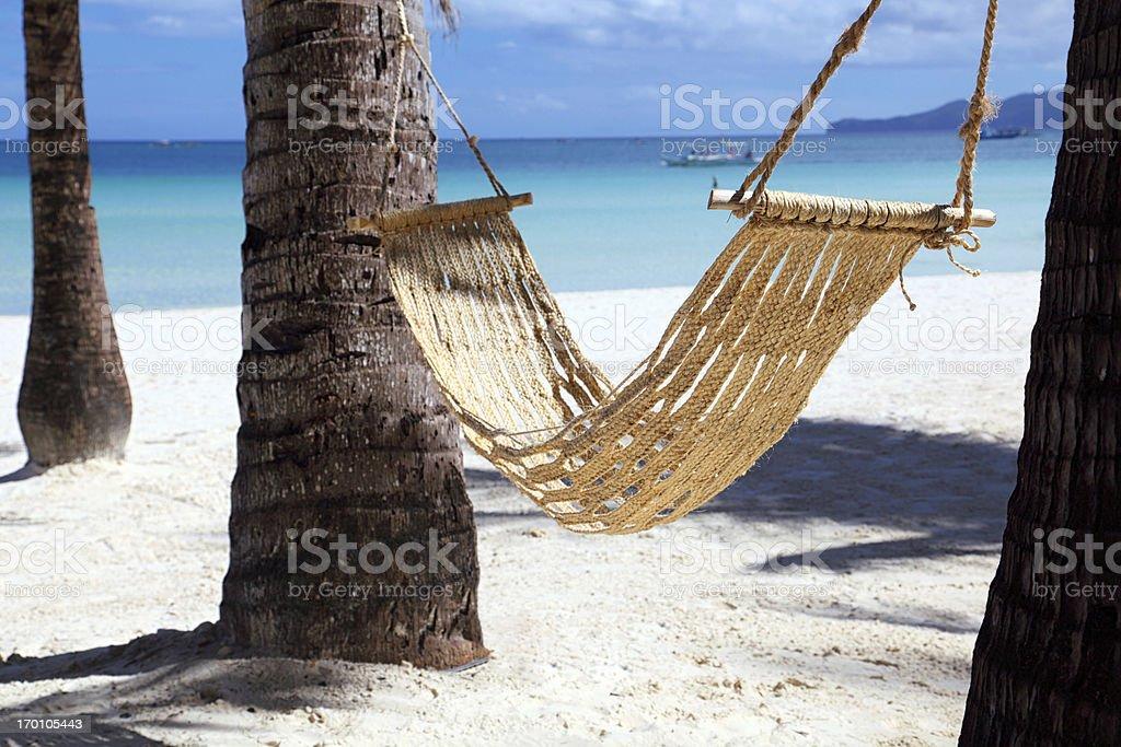 Hammock on the beach royalty-free stock photo