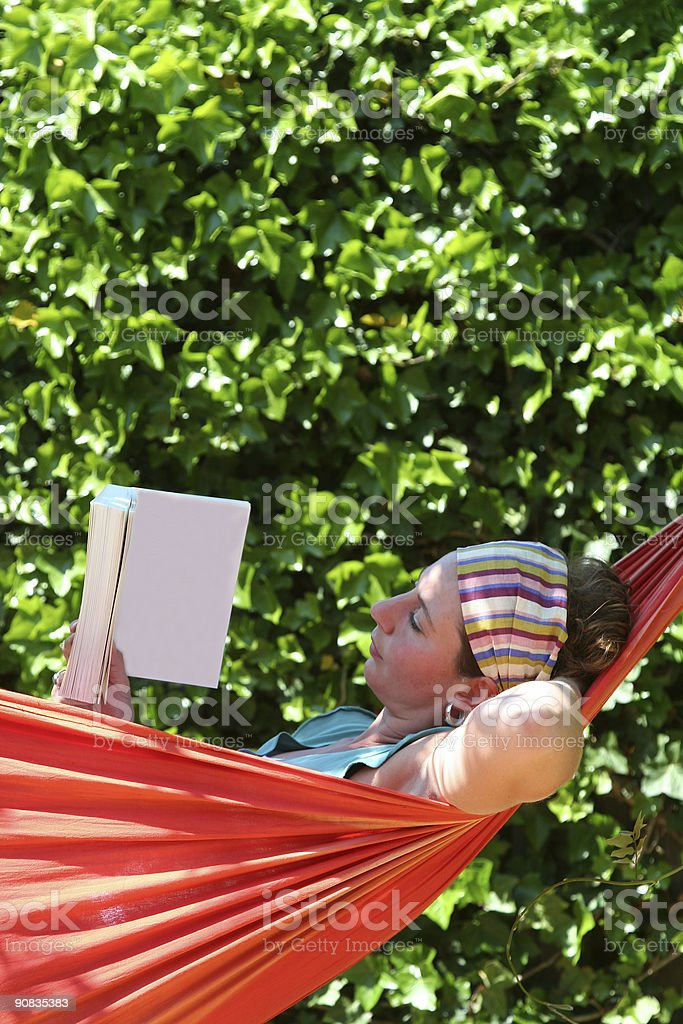 Hammock Reading royalty-free stock photo
