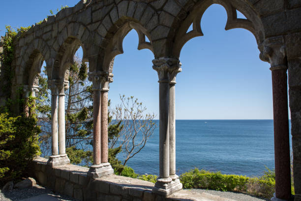 Hammond Castle Hammond Castle on the coast of Gloucester, Massachusetts gloucester massachusetts stock pictures, royalty-free photos & images