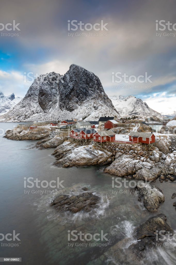 Hamnoy auf den Lofoten im Winter stock photo