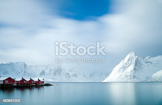 istock Hamnøy Harbour, Lofoten Islands 483691025
