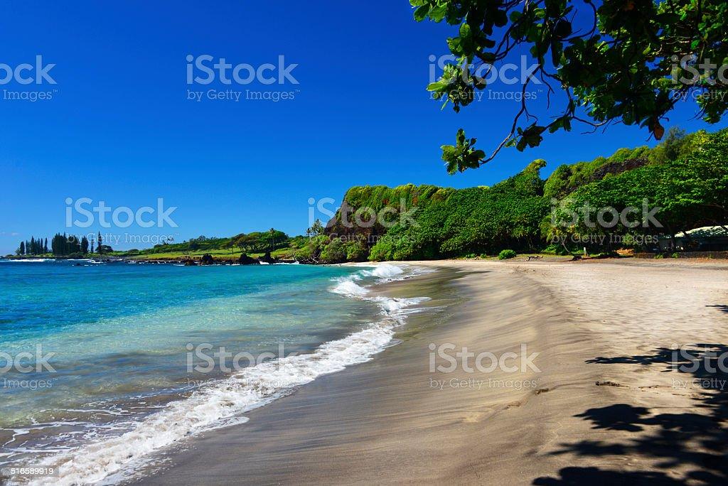 Hamoa Beach, Hana, Maui, Hawaii stock photo