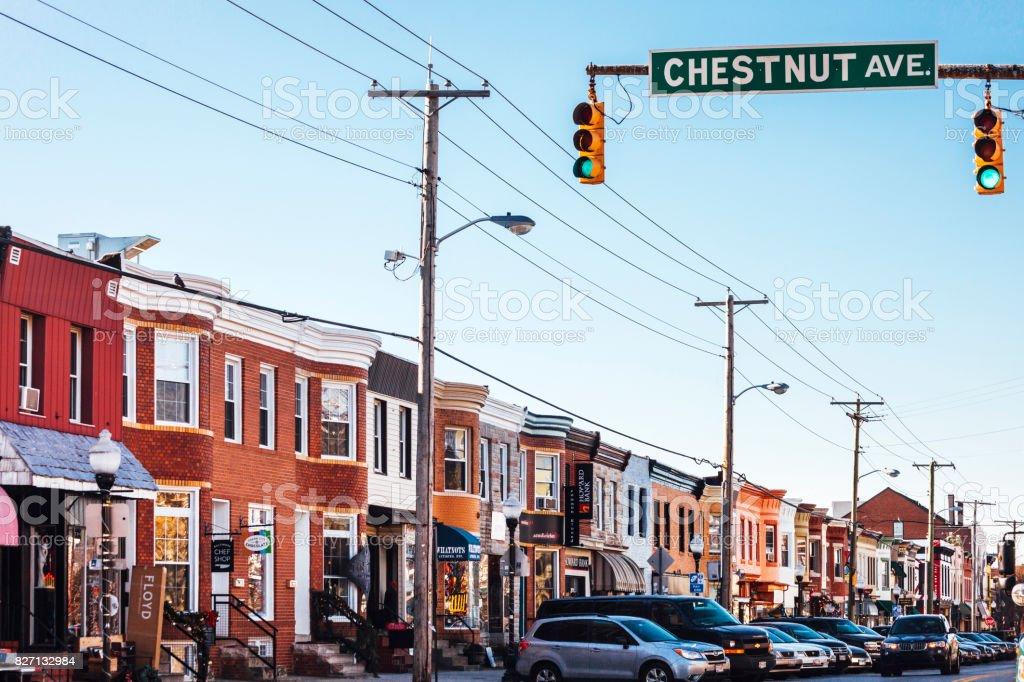 Hampden district - Baltimore, MD stock photo